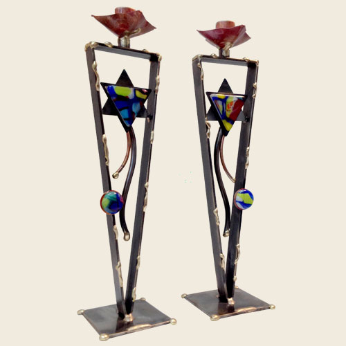 SC40 - Star Tower Candlestick Pair