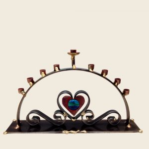 A88 - Curved Heart Menorah