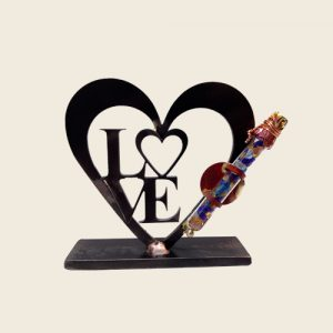 WK25LOVE - Laser Heart Shards Holder with LOVE