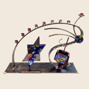 A89D - Whimsical Combo Menorah