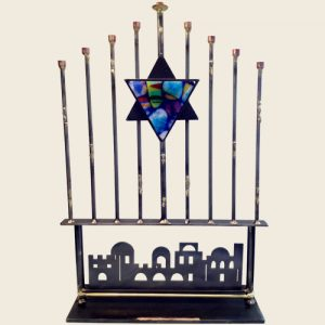 A91 - Tall Rod Jerusalem Menorah